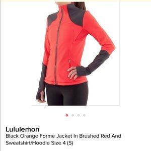 Black and orange forme jacket in brushed.